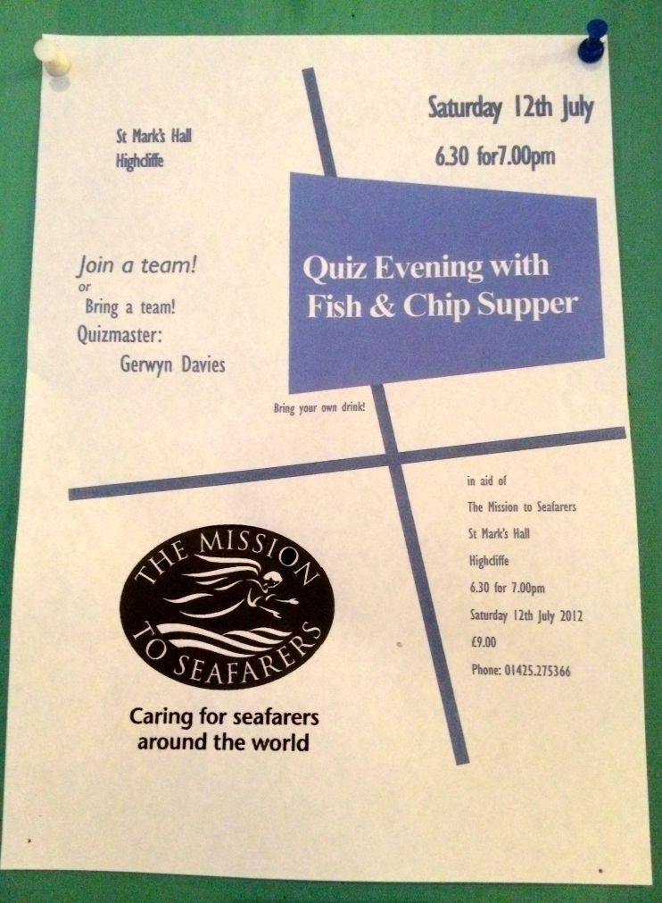 Quiz Evening programme